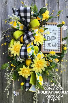 When Life Gives you Lemons Wreath Inspiration Welcome to the May 2019 showcase of beautiful wreaths and centerpieces! These stunning creations were made by designers in the Trendy Tree Marketing Wreath Crafts, Diy Wreath, Door Wreaths, Etsy Wreaths, Ribbon Wreaths, Yarn Wreaths, Tulle Wreath, Burlap Wreaths, Wreath Ideas