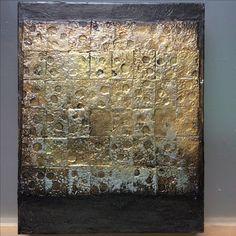 "Lynda Bleyberg. 'Radiant Moon Portal.' Mixed media on box canvas. 12"" by 9"" For sale -£250. Info@lyndableybergart.co.uk"