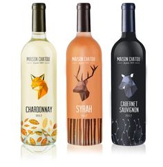 Maison Chatou - French Wine by Alice Bouchardon, via Behance