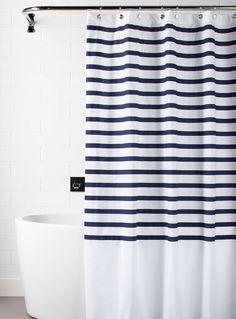 Le rideau de douche rayures Deauville
