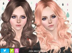 J204 Mild Spicy hairstyle by NewSea for Sims 3 - Sims Hairs - http://simshairs.com/j204-mild-spicy-hairstyle-by-newsea/