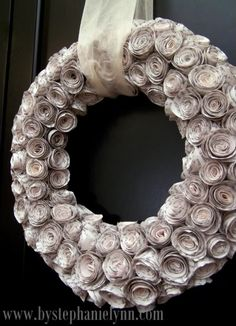 great idea for a wreath.  (what is w/ this new obsession of mine and wreaths?!)