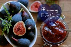 Rosemary Fig Jam is a delicious way to discover the joys of eating figs. Serve with fresh sourdough and goat cheese, cheese plates, or grilled meat.