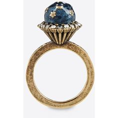 Valentino Garavani Planet And Stars Ring ($315) ❤ liked on Polyvore featuring jewelry, rings, bronze, star ring, galaxy ring, star jewelry, cosmic jewelry and valentino jewelry