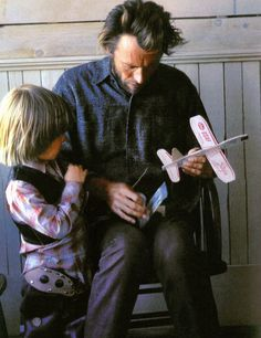 Dads, kids, and model airplanes -Clint Eastwood and his son Kyle