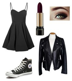 """""""Untitled #81"""" by jordvont on Polyvore featuring Glamorous, Lancôme, Converse and Alexander McQueen"""