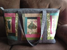 Quilt as you go Weekend bag