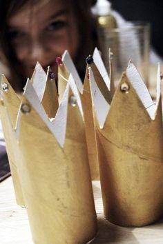 Prinsessekroner  Doruller får nytt liv som pynt / bordkort eller lignende