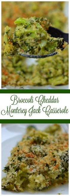 Broccoli Cheddar Monterey Jack Casserole combines fresh broccoli in a mouthwatering creamy cheddar and Monterey Jack Sauce topped with panko bread crumbs. Dinner Side Dishes, Healthy Side Dishes, Vegetable Side Dishes, Side Dish Recipes, Dinner Recipes, Dinner Ideas, Fresh Broccoli, Broccoli Recipes, Vegetable Recipes