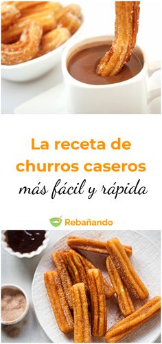 Delicious Churros Recipes Online is under construction Mexican Dishes, Mexican Food Recipes, Sweet Recipes, Snack Recipes, Fancy Desserts, Köstliche Desserts, Baked Churros, Deli Food, Desert Recipes