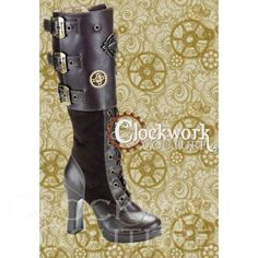My new best friend @malinborn linked me to these FAB steampunk boots. Adore.