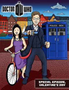 I knew it was only a matter of time before I received a Dr. Who drawing request! This one was done for Jennifer H. in TX. #doctorwho #drwho #doctor #who #tv #series #couple #gift #bicycle #bike #copenhagen #denmark #drawing #cartoonist #cartoon #illustration #illustrator #draw #buyadrawing #art #artwork #artist #caricature #caricatures #doodle #doodles #creative #customdrawing #customillustration #customart