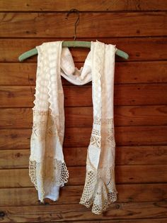 Lace And Hankie Scarf with Doilies.