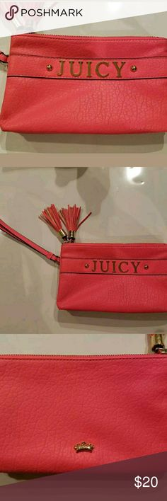 Juicy Couture Pink Wristlet Wallet Double Zipper Juicy Couture Pink Wristlet Wallet Double Zipper Juicy Couture Bags Wallets