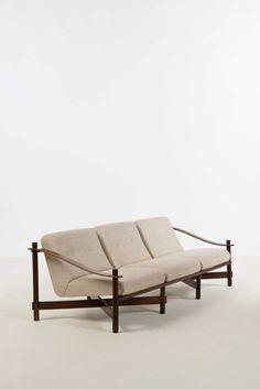 Michel Arnoult; Rosewood Sofa for Mobilia Contemporanea, 1965.