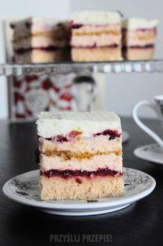różowa panienka Baking Recipes, Cake Recipes, Polish Recipes, Let Them Eat Cake, Yummy Cakes, Vanilla Cake, Delicious Desserts, Cheesecake, Food And Drink