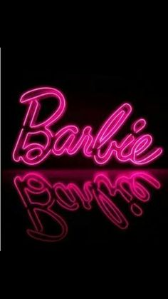 neon lights neon signs little girls rooms pink barbie dolls barbie Barbie Room, Barbie Life, Barbie World, Pink Barbie, Bedroom Wall Collage, Photo Wall Collage, Picture Wall, Neon Wallpaper, Aesthetic Iphone Wallpaper