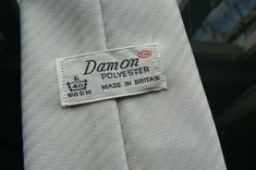 Vintage Damon TM Mens Mans Grey Polyester Tie Necktie Used Condition Made in Britain Worldwide Shipping by ForgottenTreasuresEU on Etsy #damon #damontie #vintagetie #vintagenecktie