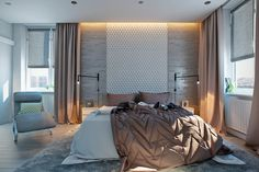 While concrete may not be the first thought that comes to mind for a traditionally warm and cozy bedroom environment, this material is far more aesthetically fl