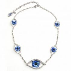 Butler and Wilson Crystal Eyes Necklace £58.00 #jewellery #jewelry #evileye #talisman