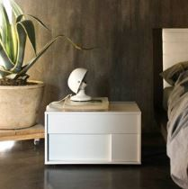 Zanette Kairos bedside cabinet Italian styling in two tones | Robinsons Beds