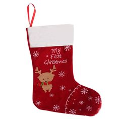 1pc New Cute Christmas Stockings Xmas Deer Kids Gifts Candy Storage Bag Socks | eBay