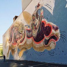 Mural de Nychos en Oakland