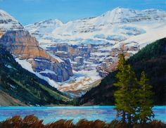 'Mount Victoria, Lake Louise' x Oil on Panel by Mountain Galleries artist Jean Geddes Canada Landscape, Spring Landscape, Landscape Art, Landscape Paintings, Oil Paintings, Canadian Painters, Canadian Artists, Canada Travel, Canada Trip