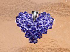 Floating Heart Necklace June Birthstone Jewelry by HandmadeJILLry