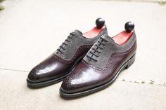 Roosevelt - Plum Museum Calf / Mid Grey Suede-J.FitzPatrick Footwear