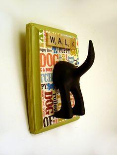 Dog Tail Leash Holder  Wasabi Green Dogcentric   by AplombDesigns, $15.95