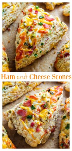 Ham and Cheese Scones – An Easy Ham and Cheese Scone Recipe There's nothing like pulling a warm tray of ham and cheese scones out of the oven! They're SO easy! Perfect for Easter brunch or to use up leftover Easter ham! Healthy Scones, Savory Scones, Easter Ham, Easter Brunch, Brunch Recipes, Breakfast Recipes, Breakfast Scones, Breakfast Dishes, Breakfast Ideas
