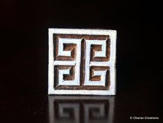 Wood Block, Tjaps, Carved wood stamp, Indian wood stamps, Pottery Stamp- Small Square