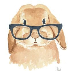 easy to paint kids watercolor bunnies and dogs - Google Search