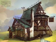 Inspiration : Medieval buildings for 28 mm scale...