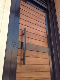 Wooden Main Door Design, Door Gate Design, Front Door Design, Modern Entrance, Modern Front Door, Entrance Doors, Front Door Paint Colors, Painted Front Doors, Metal Doors