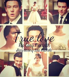 finn hudson and rachel berry / cory monteith and lea michele #glee #rip