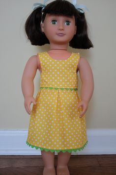 "Dress pattern for 18"" doll"