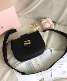 b0cc8a1360a 2017 Christian Dior Bag Women s Medium D-fence Leather Saddle Bag M6501 Dior  Purses