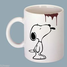 SNOOPY COFFEE DRIP Funny Gift Mug Can Be Personalised FREE cartoon rude | eBay