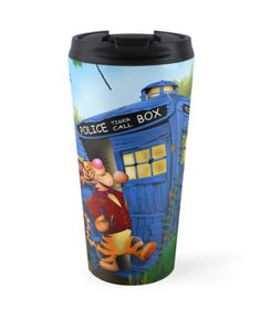 Doctor Tiger with Blue Phone Box Mugs #travel #mug #travelmug #abstract #lion #tiger #cat #bigcat #beautifulanimal #jungle #puma #calvinandhobbes #tardisdoctorwho #tardisdoctorwho11th #doctormattsmith #bluebox #bluephonebox #phonebooth
