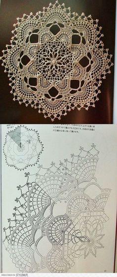Darmowe wzory szydełkowe Serwetki na stół wykończone szydełkiem