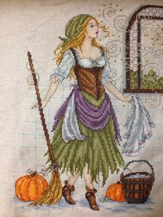 Thread Therapy: Cinderella in rags - beautiful work in progress. Love the Kreinik sparkle.