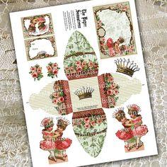 Cupcake Topper Gift Box Gift Tags Digital by RhondasOriginals