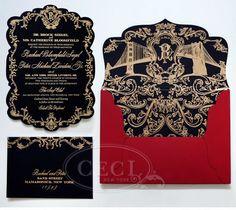 awesome Black and Gold Wedding Invitations #weddinginvitation