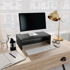 vidaXL Monitor Stand Black 42x24x13 cm Chipboard