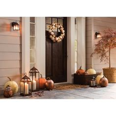 Fall Home Decor, Autumn Home, Front Porch Fall Decor, Fall Porches, Fall Porch Decorations, Thanksgiving Decorations Outdoor, Modern Fall Decor, Fall Mantle Decor, Fall Front Doors