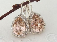 What beautiful Swarovski teardrop earrings! | Jewelry Couture