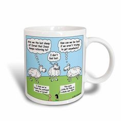 3dRose The Lost Sheep of Israel, Ceramic Mug, 11-ounce