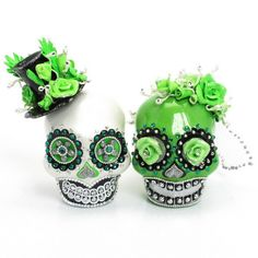 Skull Wedding Cake Topper A00165